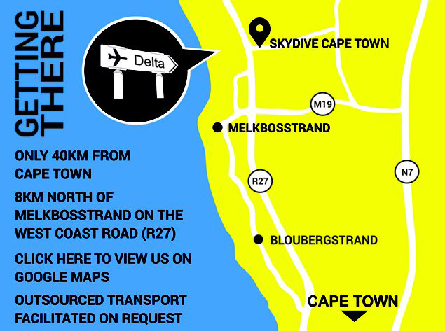 Skydive Cape Town Map